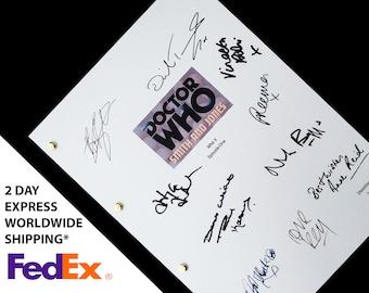 Doctor Who Dr Smith & Jones TV Script Screenplay with Signatures, Autograph Reprint - David Tennant Freema Agyeman Anne Reid Adjoa Andoh