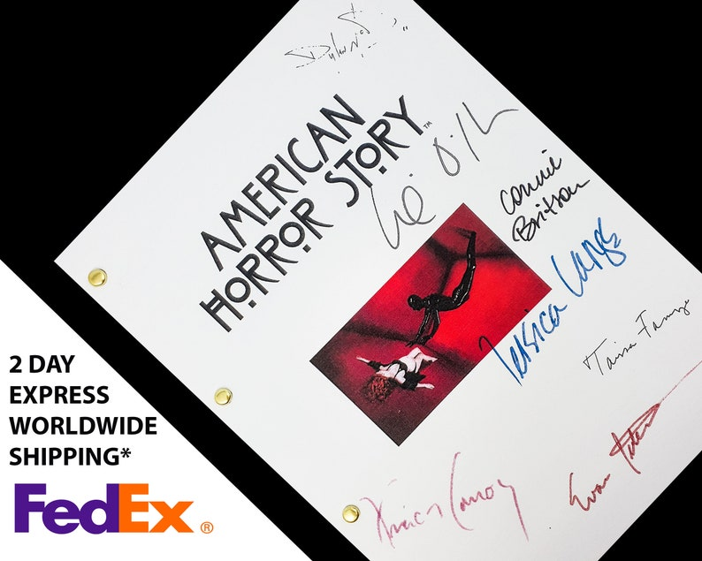 American Horror Story TV Script Screenplay with Signatures image 1