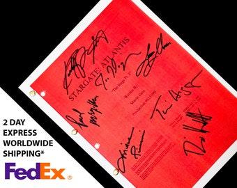 Stargate Atlantis Script Screenplay with Signatures Autograph Reprint Joe Flanigan Paul McGillion Rachel Lutrell Jason Momoa Mitch Pileggi
