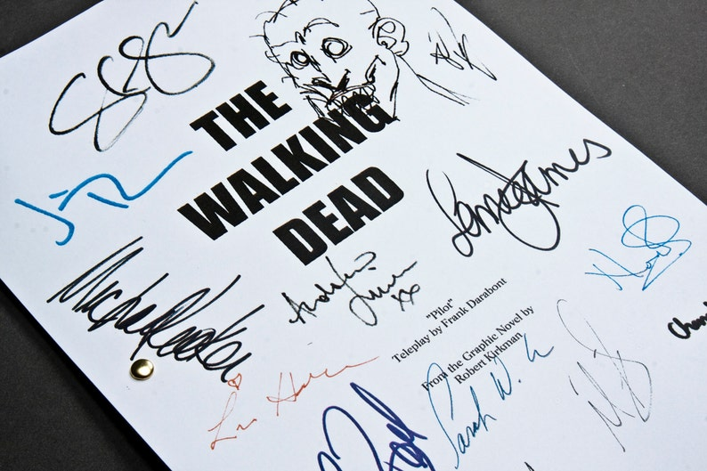 The Walking Dead TV Script Screenplay with Signatures image 0
