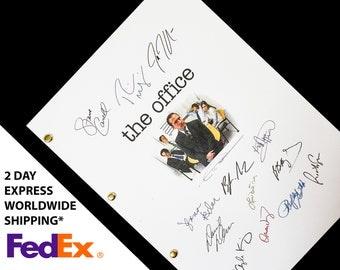 The Office US TV Show Pilot Script Screenplay with Signatures Autographs Reprint - Ricky Gervais Steve Carell Rainn Wilson John Krasinski