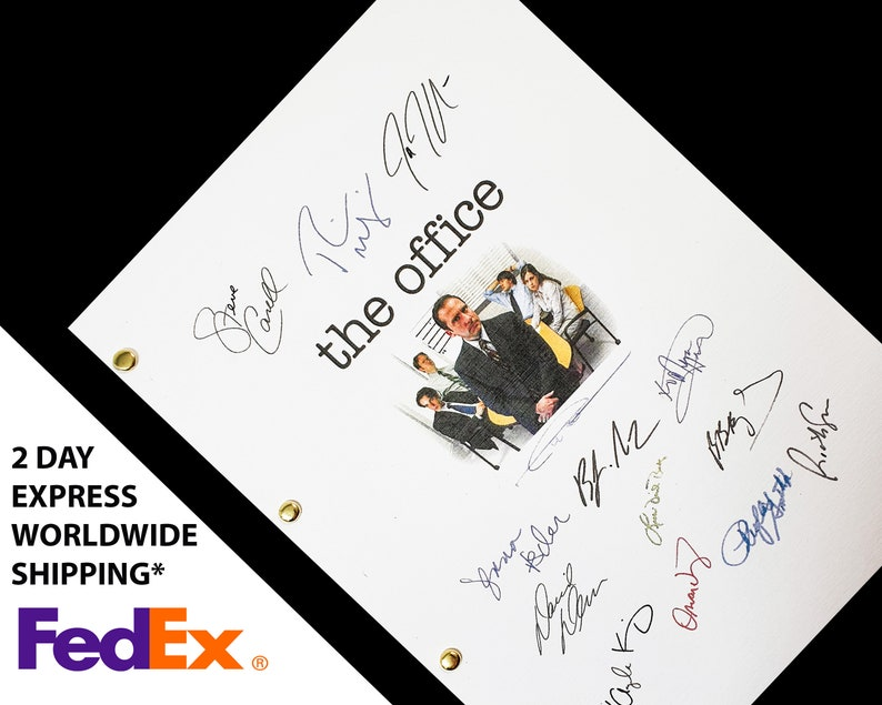 The Office US TV Show Pilot Script Screenplay with Signatures image 0