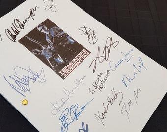 Terminator 2 Judgment Day Film Movie Script with Signatures / Autographs Reprint T2 Arnold Schwarzenegger Unique Gift  Screenplay