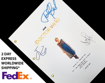 Doctor Who Series 11 Episode 1 Jodie Whittaker TV Script Screenplay with Signatures Autographs Reprint The Woman Who Fell to Earth Dr Who