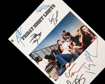 Friday Night Lights TV Script with Signatures Autograph Reprint - Kyle Chandler Connie Britton Taylor Kitsch Jesse Plemons Aimee Teegarden