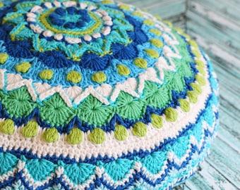 Marrakech Crochet Pattern Pack   Granny Square Pattern   Crochet Cushion Pattern   Crochet Mandala Pattern