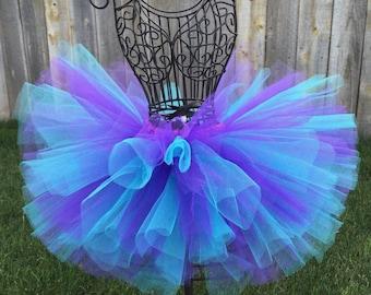 Aqua Purple Tutu Baby Tutu Frozen Tutu Toddler Tutu Mermaid Tutu Birthday Tutu Dance Tutu Bubble Guppies Tutu Purple and Aqua Tutu Newborn