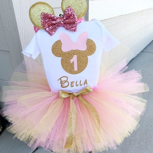 Minnie Mouse 1st Birthday Outfit Etsy