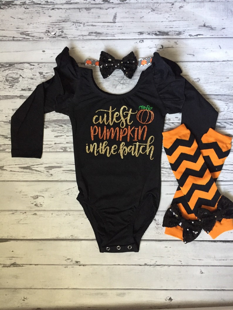 024bcb401de3 Cutest Pumpkin in the Patch Halloween Leotard Baby Girl | Etsy