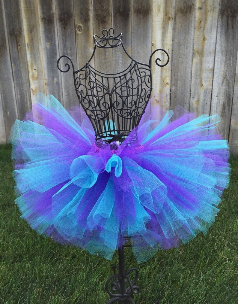 Aqua Purple Tutu Baby Tutu Frozen Tutu Toddler Tutu Mermaid image 0