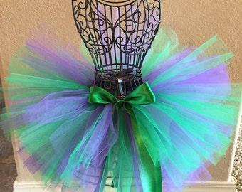 Little Mermaid Tutu Baby Tutu Toddler Tutu 1st Birthday Outfit Birthday Tutu Newborn Tutu Full and Fluffy Tutu Purple and Green Tutu Cake