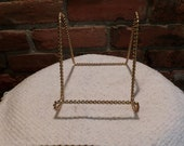 Hollywood Regency Twisted Rope Easel, Gold metal display easel, display stand, Vintage display stand, gold stand, Morethebuckles