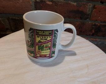 Myers's Rum Original Dark Jamaican Rum Coffee Mug, Vintage Myers Rum coffee mug, advertising mug, Barware, Morethebuckles