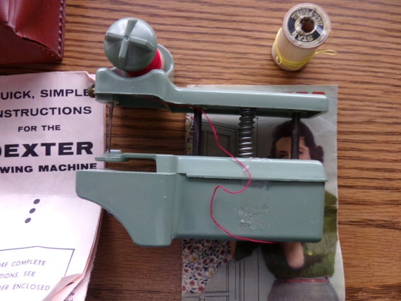 Vintage Dexter Hand Held Sewing Machine With Case Vintage Etsy Custom Dexter Hand Held Sewing Machine