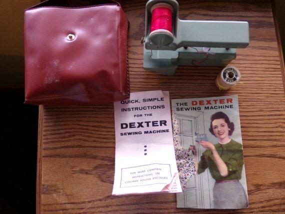 Vintage Dexter Hand Held Sewing Machine With Case Vintage Etsy Simple Dexter Hand Held Sewing Machine