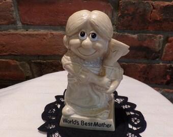 Vintage Berries World's Best Mother, Best Mother award, 1970's Best Mother figurine, Morethebuckles, 1970's Prop