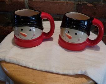 Royal Norfolk snowman mug, Christmas mug, winter mug, 3D Snowman Christmas mug, Morethebuckles, 1990 prop