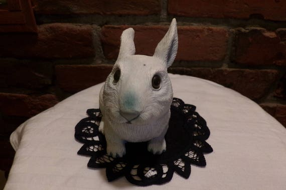 Bunny Garden Décor Bunny Rabbit Décor Resin Rabbit Brown | Etsy