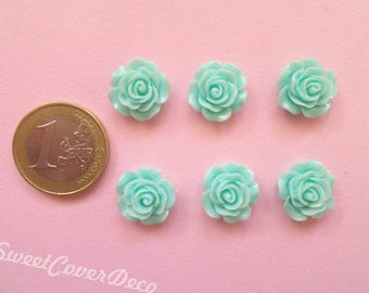15 mm Kit 6 Cabochon Roses roses flowers