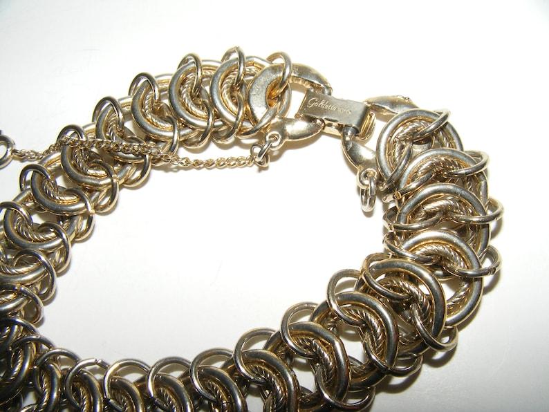 Vintage Goldette Chain Link Bracelet