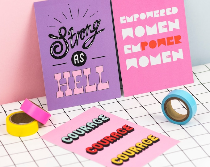 Empower Women positivity print pack