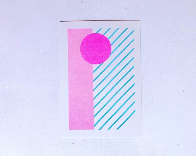 Calm - Mini pattern print - Risograph print A6