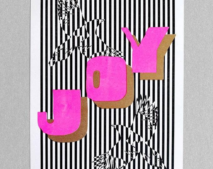 Two for Joy Risograph print A4