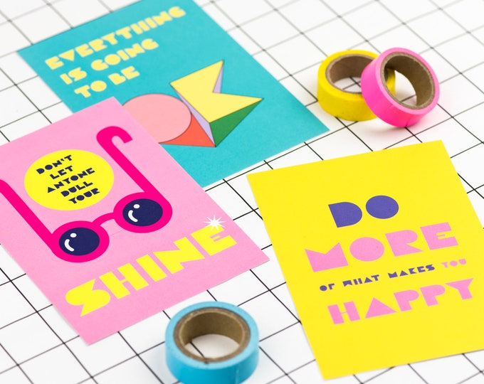 Happy positivity print pack