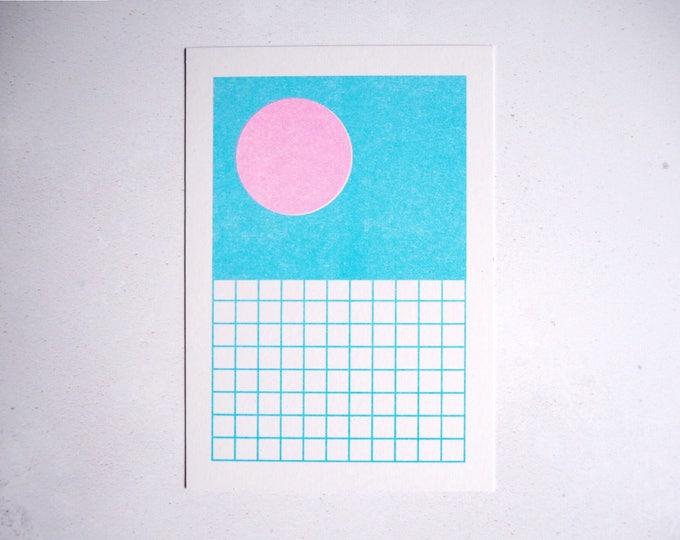 Dive In Summer - Mini pattern print - Risograph print A6