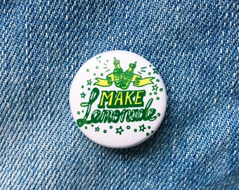 Make lemonade hand drawn typographic badge