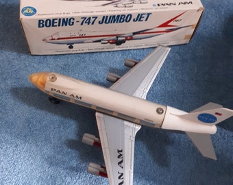 Vintage Japanese tinplate battery operated boeing