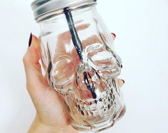 Skull Drinks Jar
