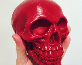 Blood Red Skull Candle - Skull Decor - Gothic - Witch - Wax Melt