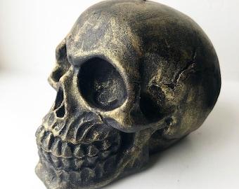 Black & Gold Skull Candle