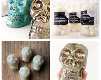 Tiki Skull wax melts & burner set