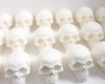 Natural Skull Candle Trio