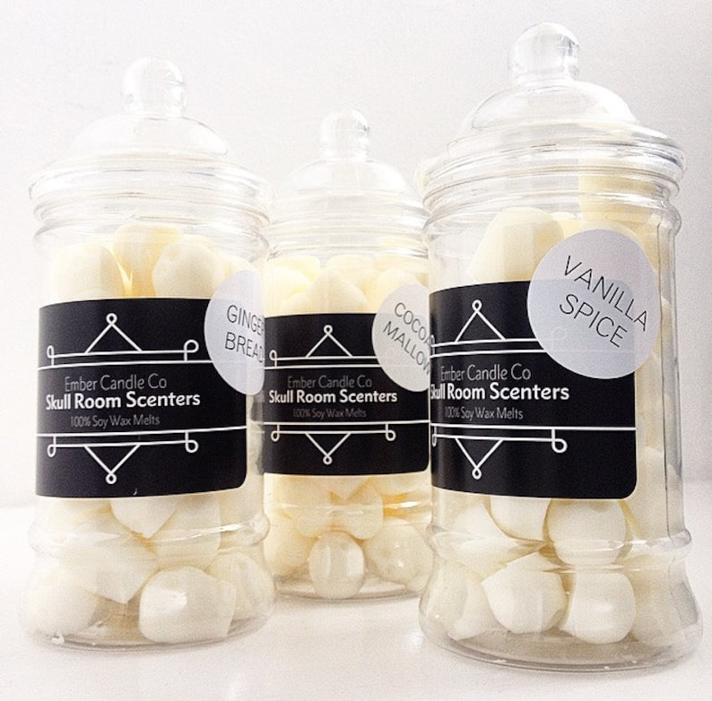scented wax melts Skull-shaped wax melts SKULL ROOM SCENTERS skull gift 100/% soy wax melts vintage sweet jar vegan wax melts