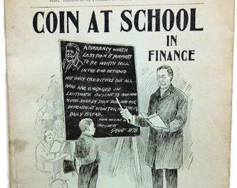 Coin at School in Finance 1895 Scarce Americana!!