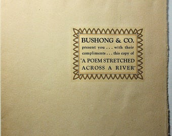 St. Johns Bridge Opening Americana Poem BUSHONG & CO. ca. 1931 RARE!