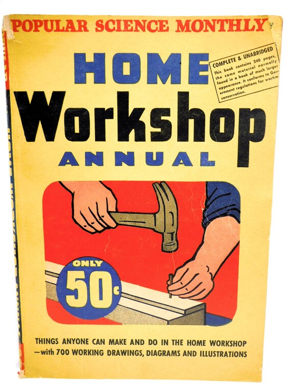 1945 Popular Science Home Workshop Annual Tools Woodworking Carpentry Crafts