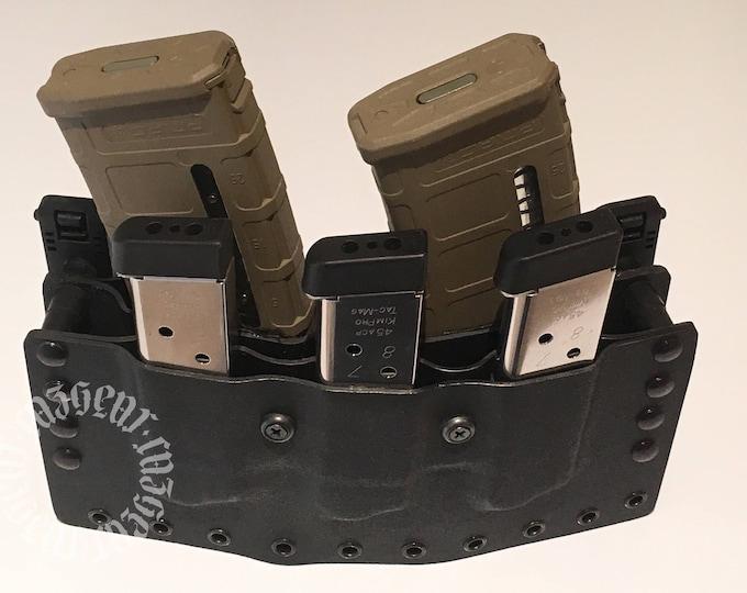 CazGear Tactical AR / Triple 1911 Mag Pouch
