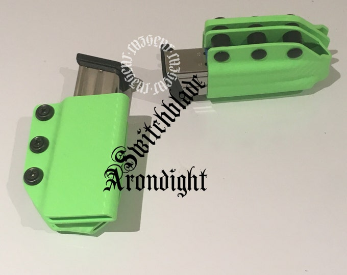 Set of 2 Arondight Switchblades Double Stack Horizontal Mag Carrier in Zombie Green