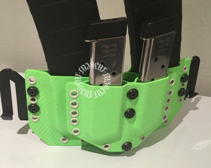 Zombie Green Double AR and pistol rack