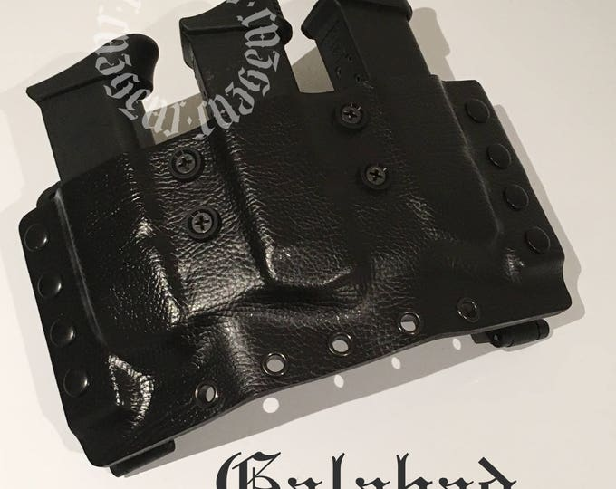 Chief Rau Triple Mag Pouch for Glock 17/19 Extended Pocket Bulk Order (x5)