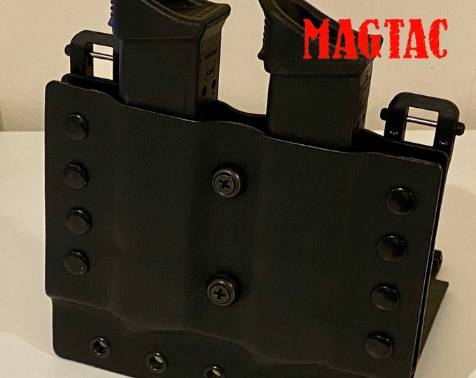 Chief Rau Police/Security MagTac Double Mag Pouch for G17/19/23 with Molle Attachment System (volume discounts available)