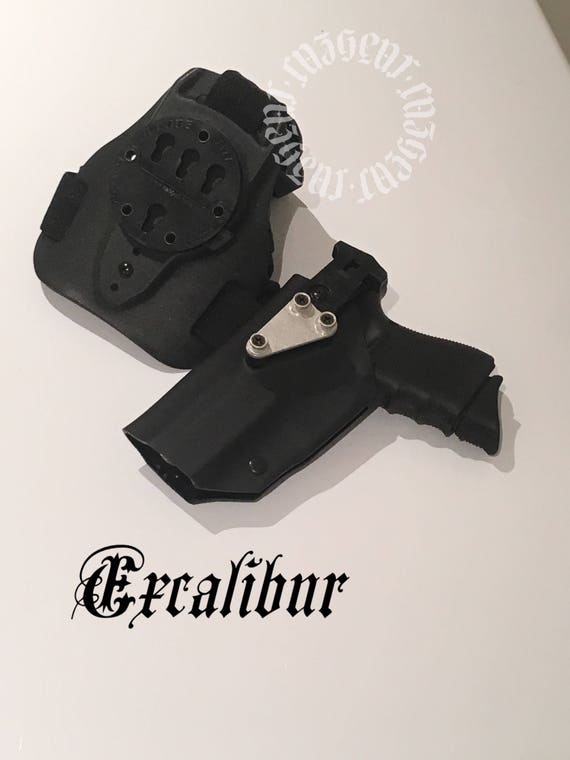 Excalibur: Law Enforcement Level II Right Handed Draw Drop Leg Tactical  Holster (with G-Code RTI mounting system)