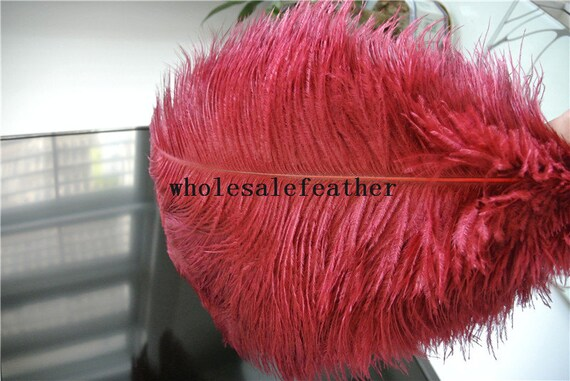 Pcs inch burgundy wine red ostrich feather plume