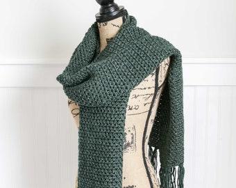 Jessie Scarf  | Oversized, Crochet Scarf | Soft Winter Scarf | Oversized Crochet Scarf With Fringe | Soft Oversized Scarf | FREE SHIPPING