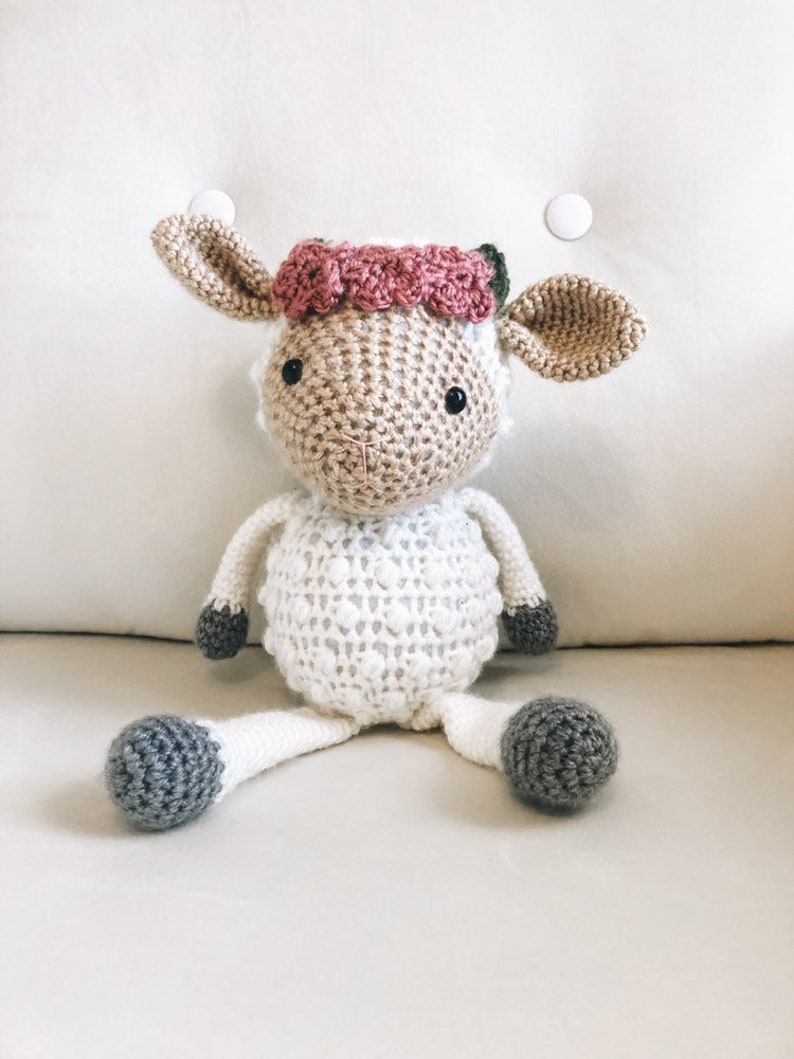 Crochet Sheep Stuffed Animal Sheep Stuffed Animal Farm image 0