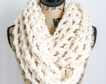 The Emily Scarf   Soft Fall Scarf   Open Weave Crochet Scarf